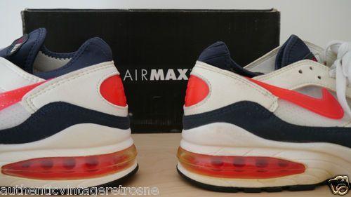 huge selection of ece60 0847e Nike Air Max 93 1993 Vintage Original Flame Red UK 9 US 10 Deadstock Boxed   eBay