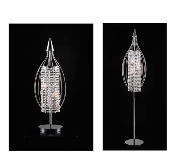 Royal modern crystal floor and table lamp aloadofball Gallery