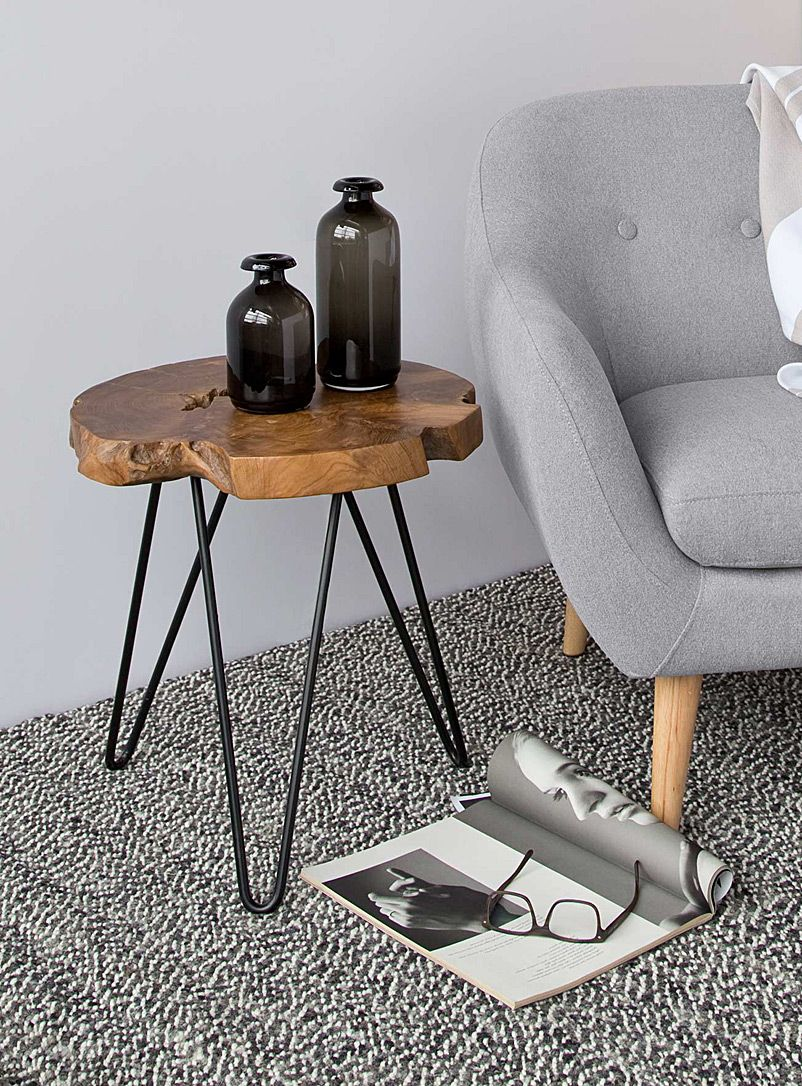 Natura Hairpin Side Table Table Teak Table Small Tables