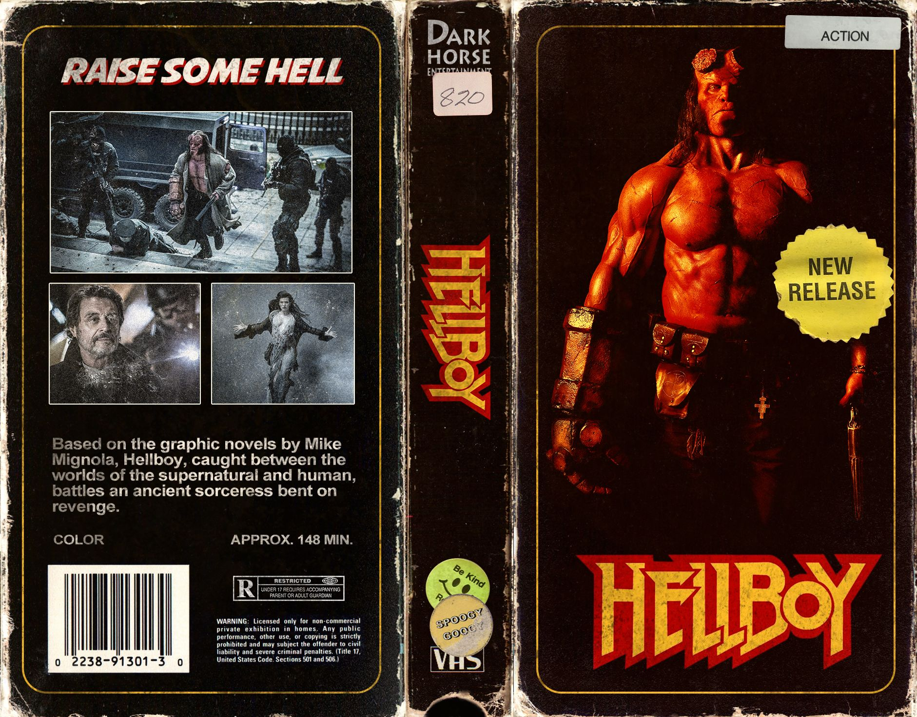 Hellboy Vhs Cover Art