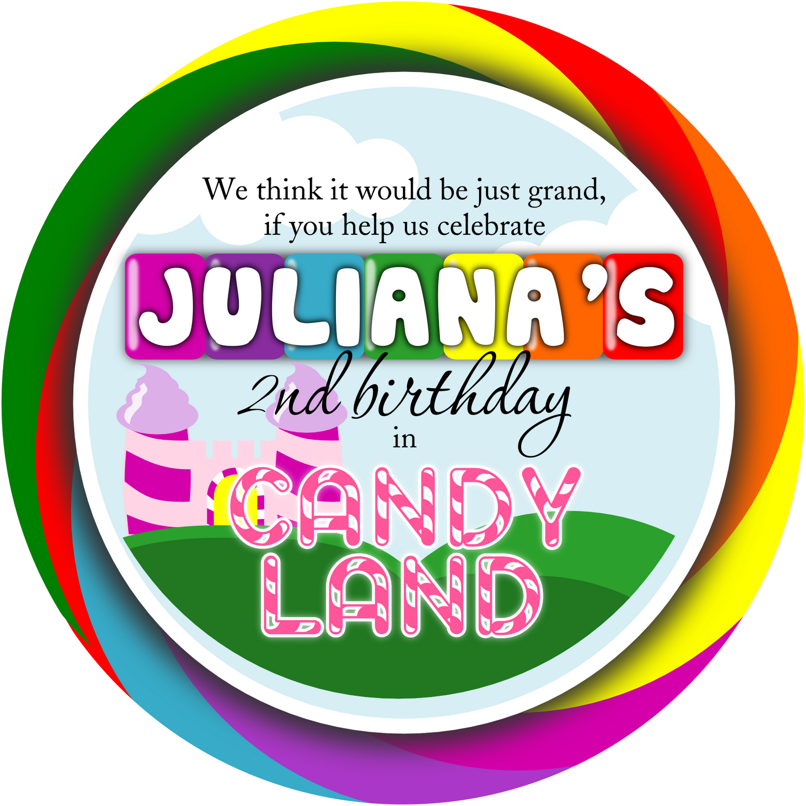 candy land invitation template free Google Search – Candy Land Birthday Invitations