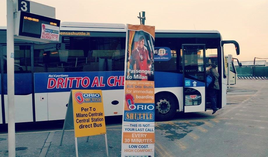 New bus stop from 18th March 2015! Orio al Serio BGY Airport - Arrival Zone, platform n.3