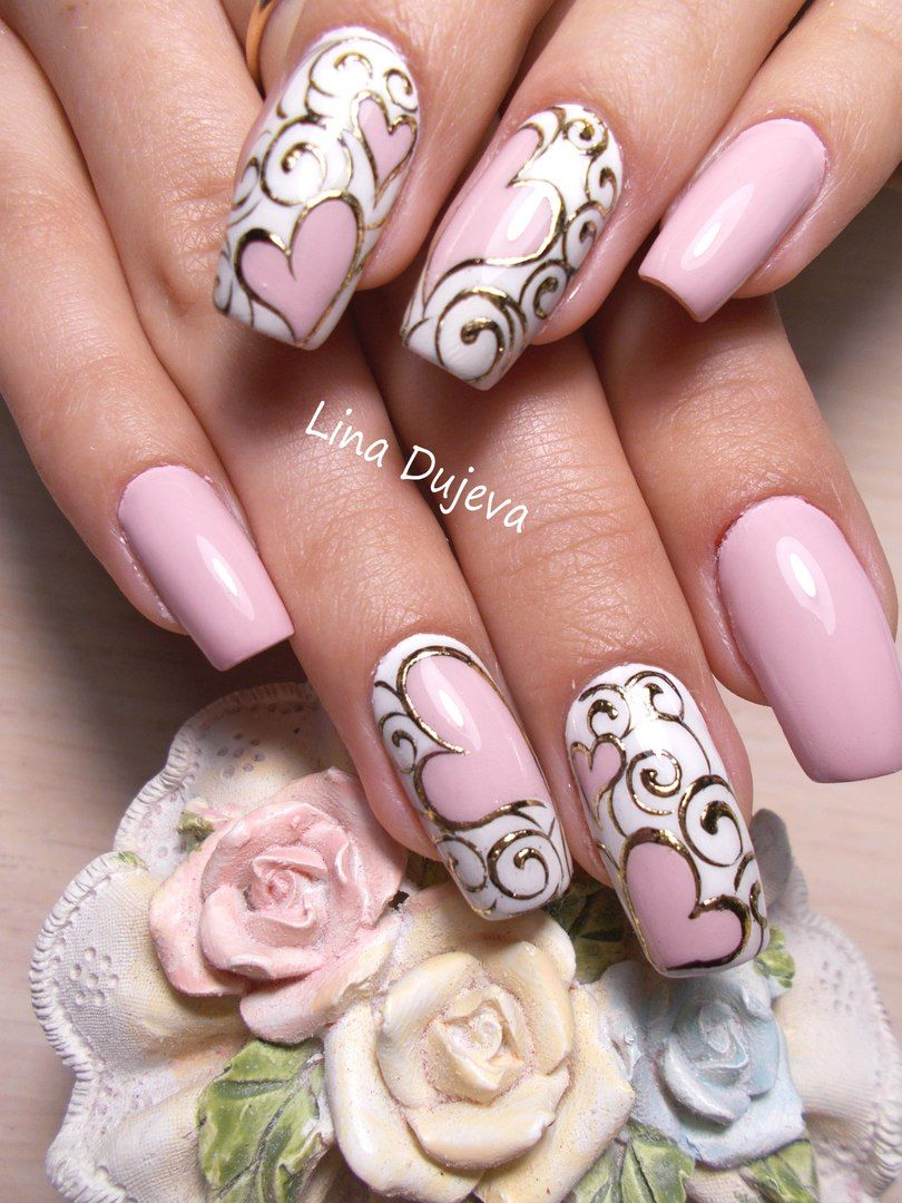 I would change the pink color in dark red ♥ | Neat Nails ...