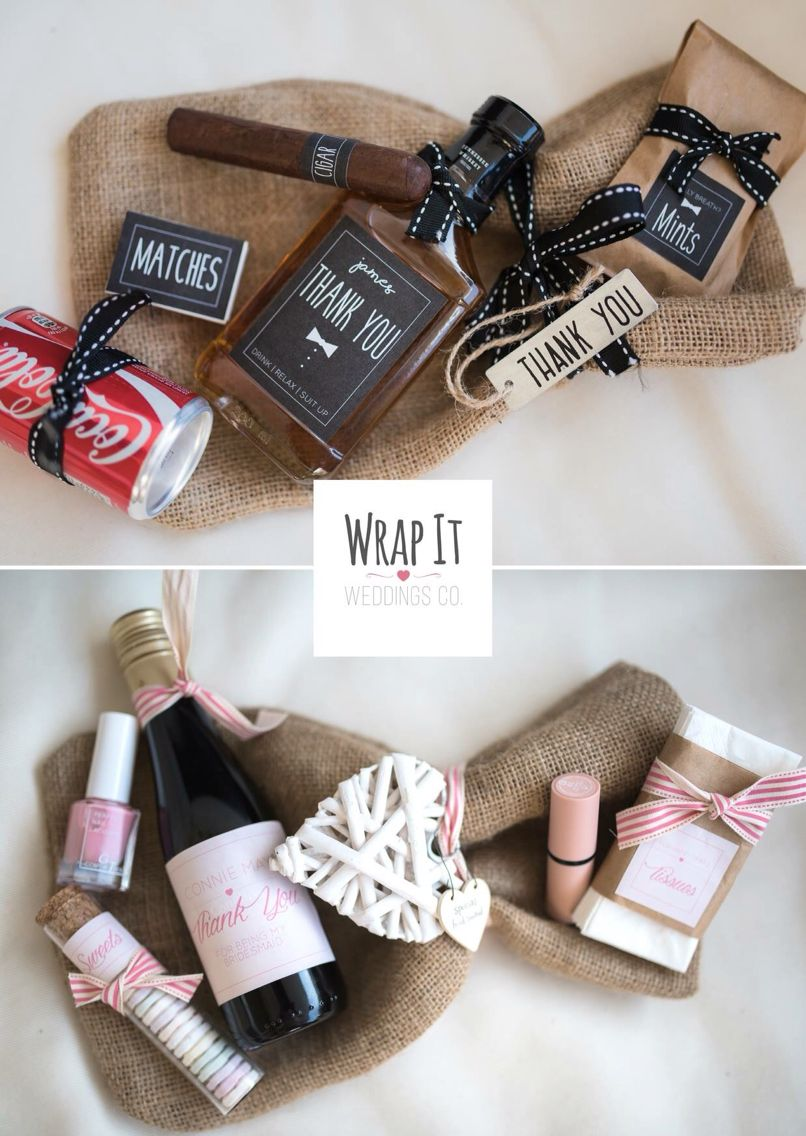 Brilliant thank you gifts for bridesmaids and groomsmen Personalised ...