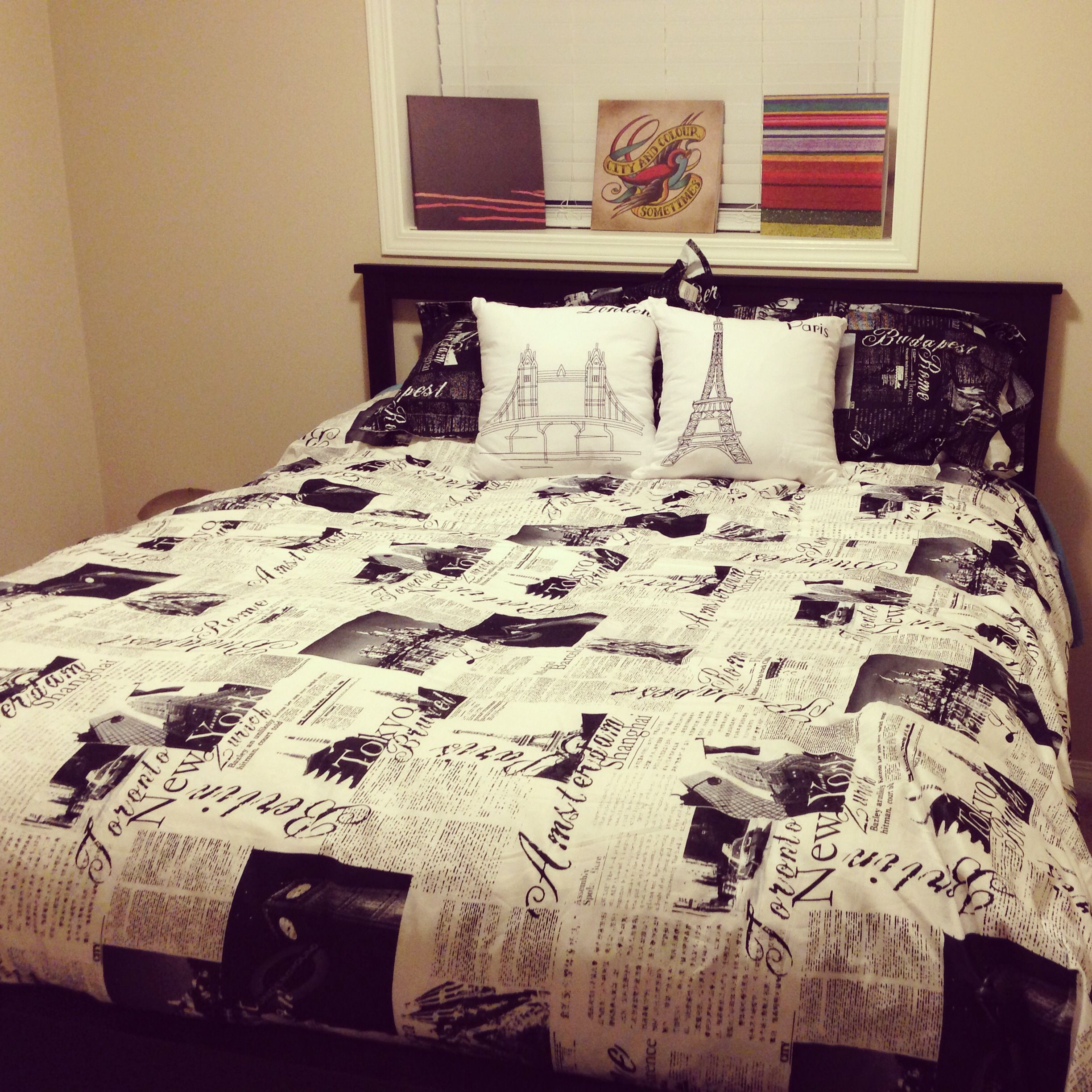 Passport around the world Duvet cover pillows from bed bath
