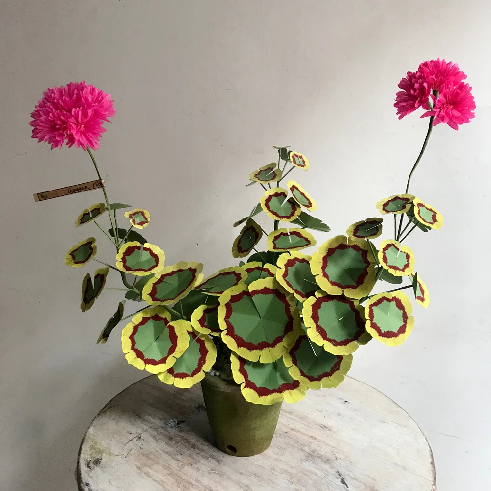 John Derian Company Inc The Green Vase Potted Pink Geranium – Pink geranium