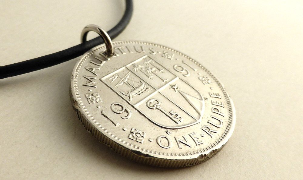 Mauritius Coin Necklace Vintage Necklace Men S Necklace