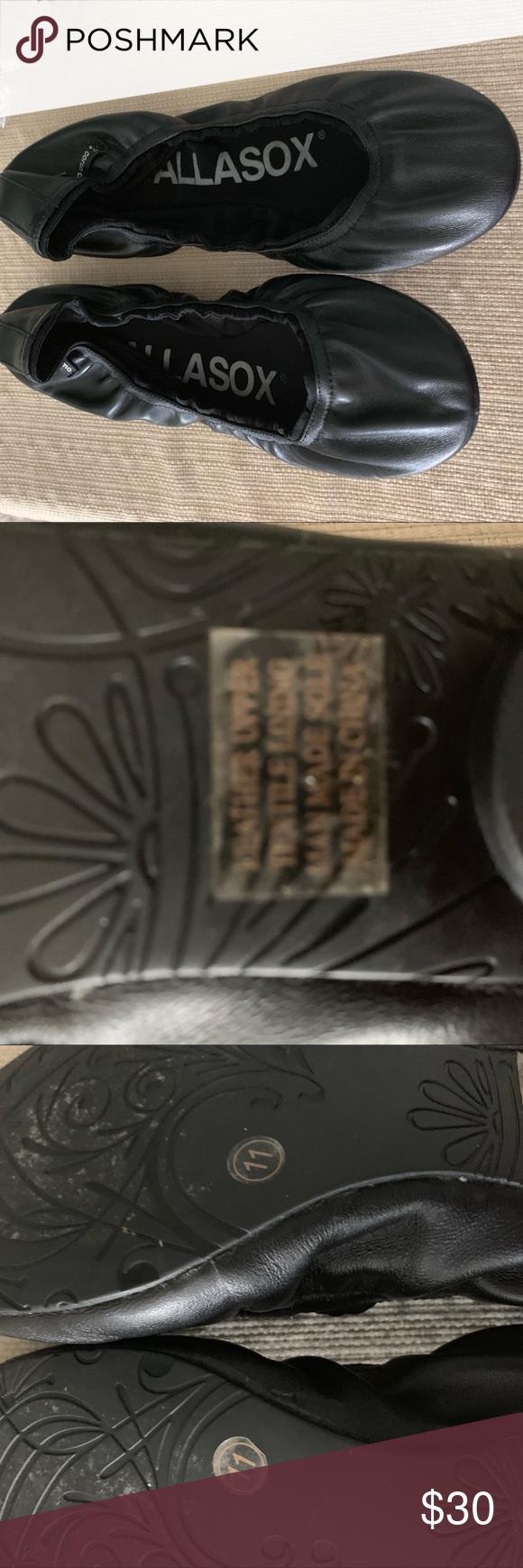 Tommy Hillfiger Black Leather Flats   Black leather flats