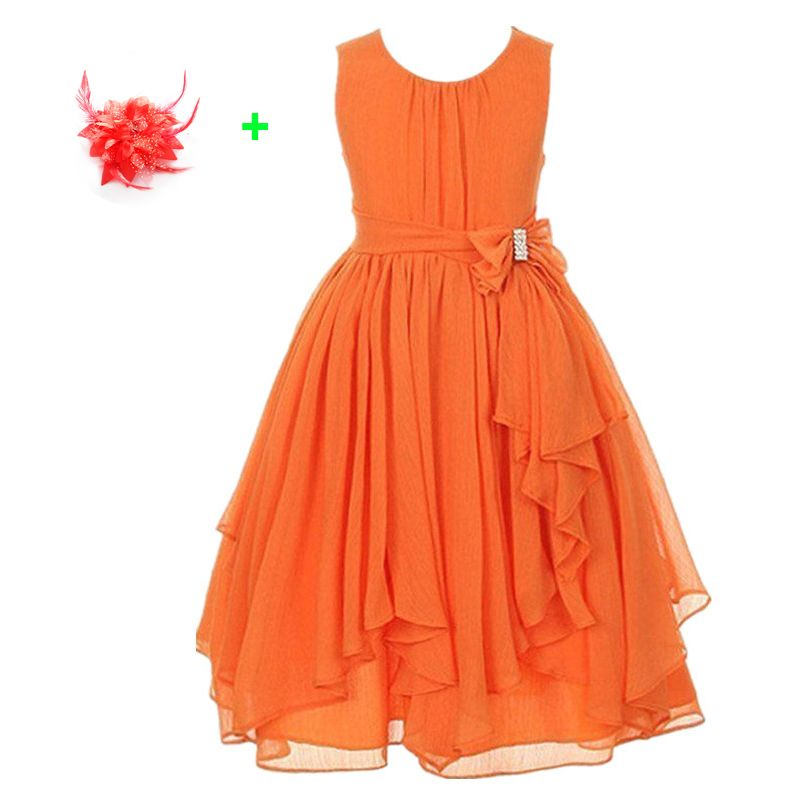 f4a462c2e teenage party dresses 3-13 year olds pink flowers princess girls ...