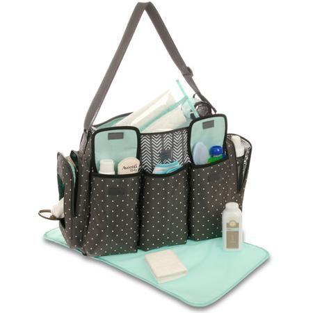 95d6756b93174 Child of Mine 3-Pocket Duffle Diaper Bag - Walmart.com