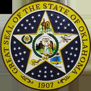 Oklahoma State Seal Plaque Oklahoma State Flag Oklahoma Oklahoma State