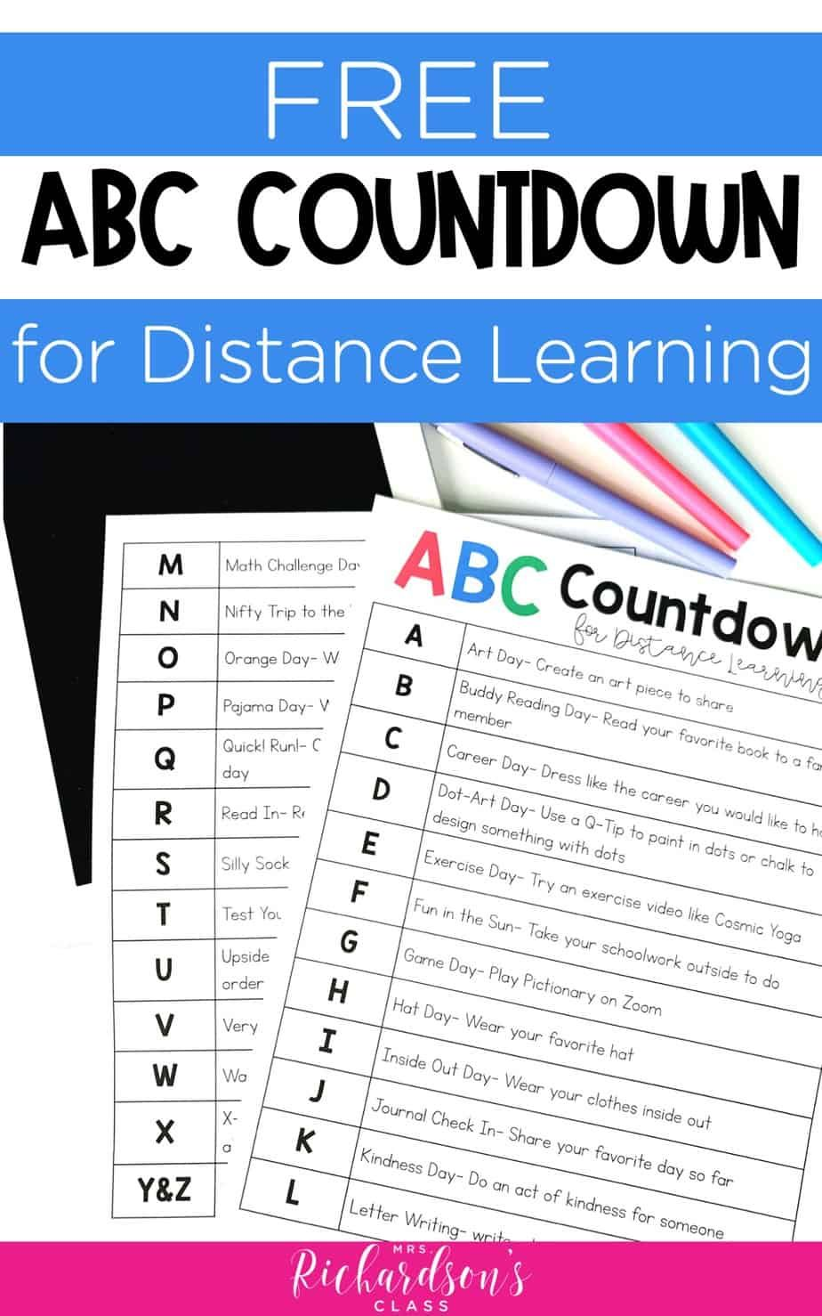 Free abc countdown to summer for distance learning in 2020