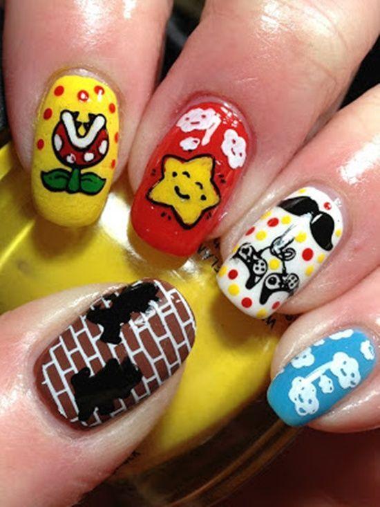 Geeky Nails Nail Art Pinterest Nail Stuff