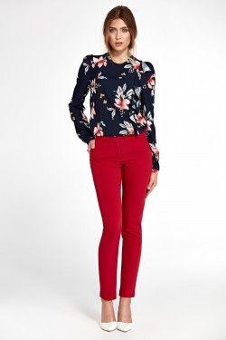 Photo of Klasyczne spodnie z lekko zwężanymi nogawkami – czerwony