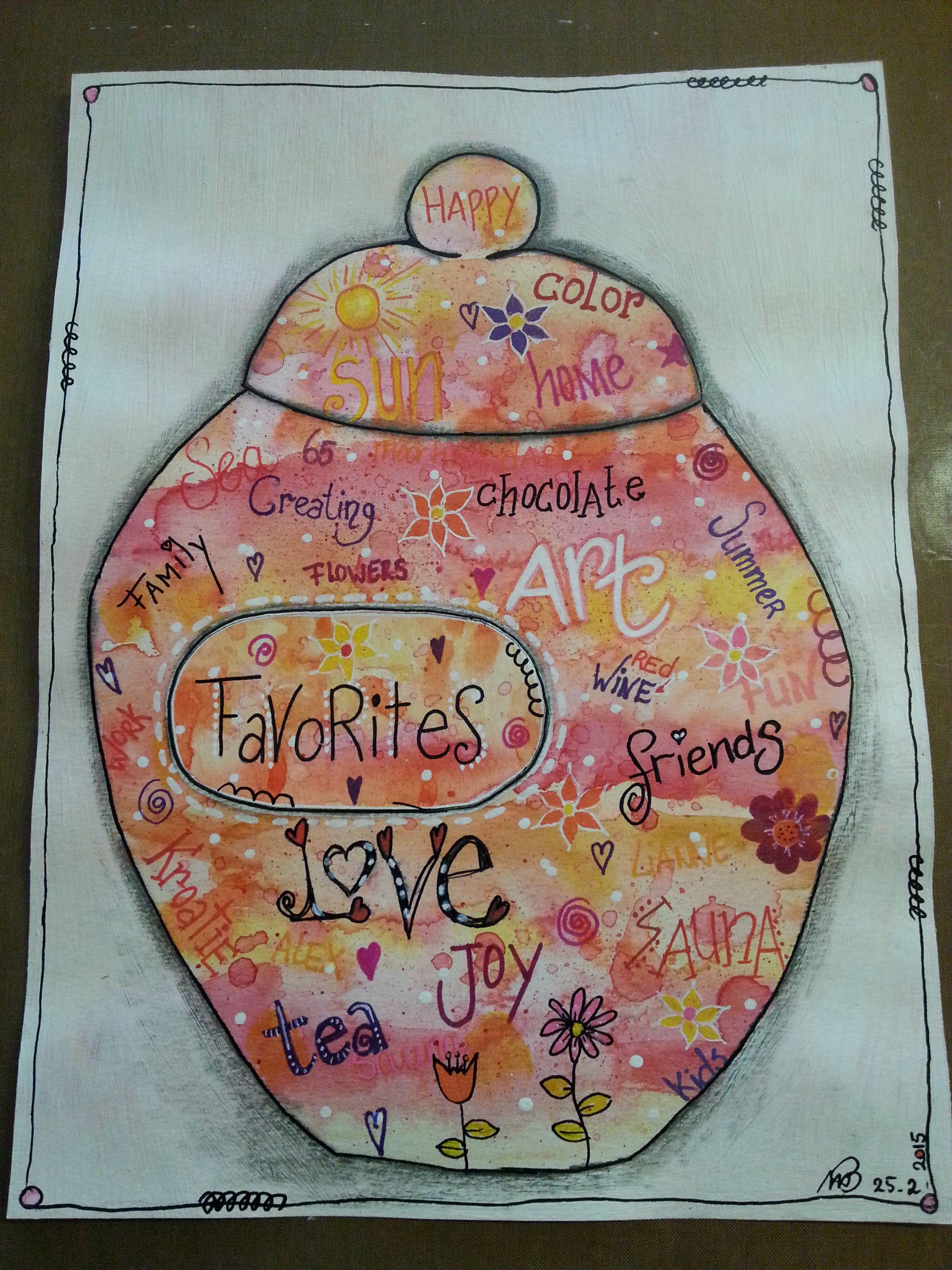 Week 9 Favorite Favorites Jar with Lynn Whipple