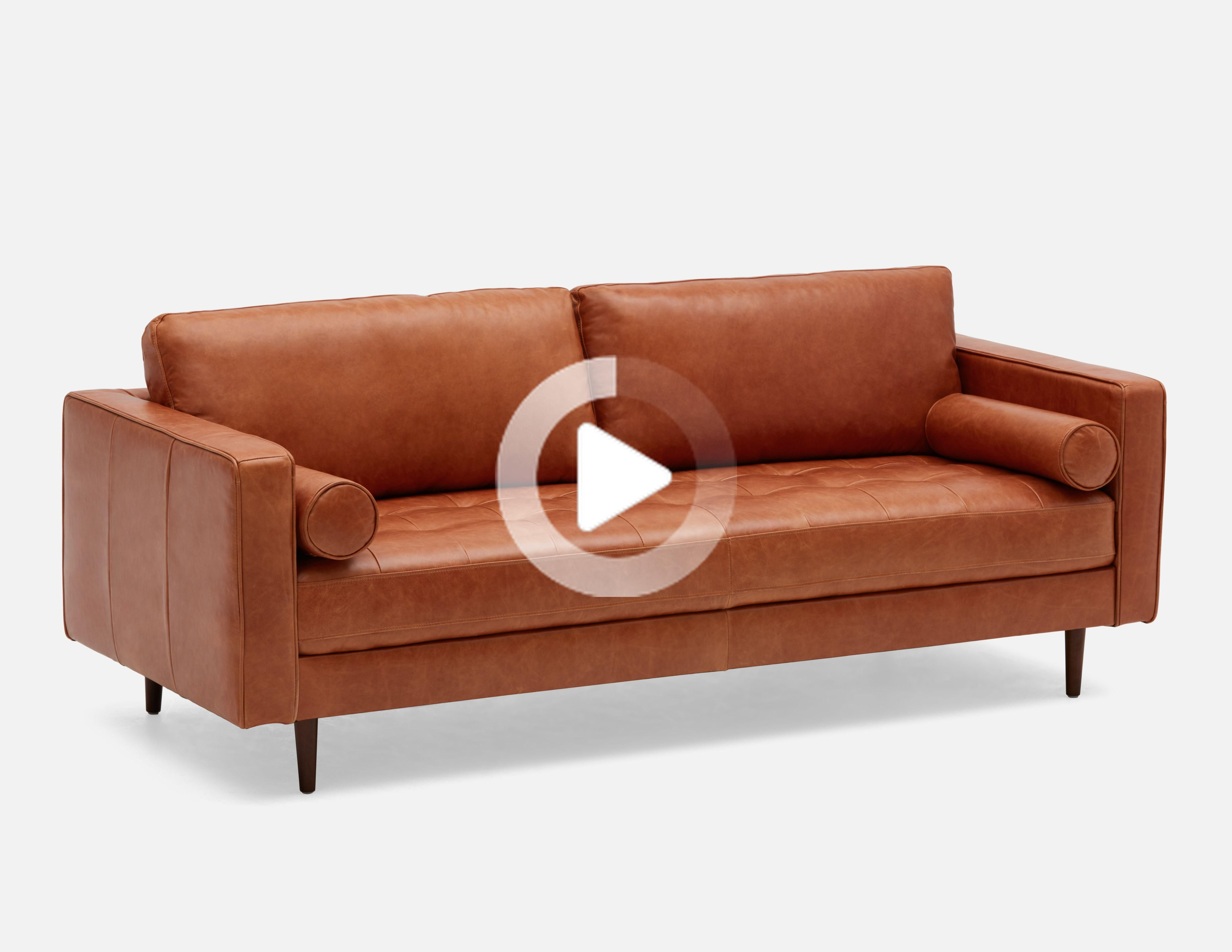 Structube Copper 100 Leather 3 Seater Sofa Kinsey En 2020 Relooking Chambre Canape 3 Places Canape
