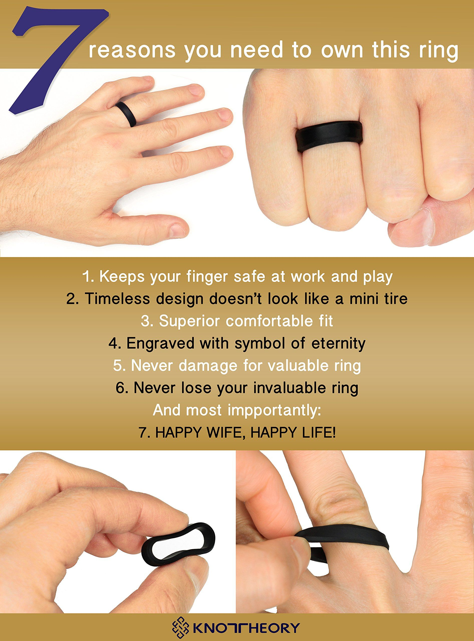7 Reasons to Own a Silicone Wedding Ring See the rings on Amazon