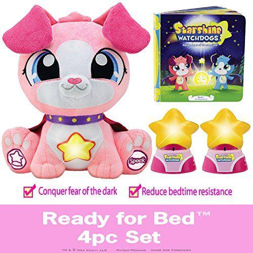 Watchdogs Girls Bedtime Sleep Toy Stuffed Animal Soothing Talking