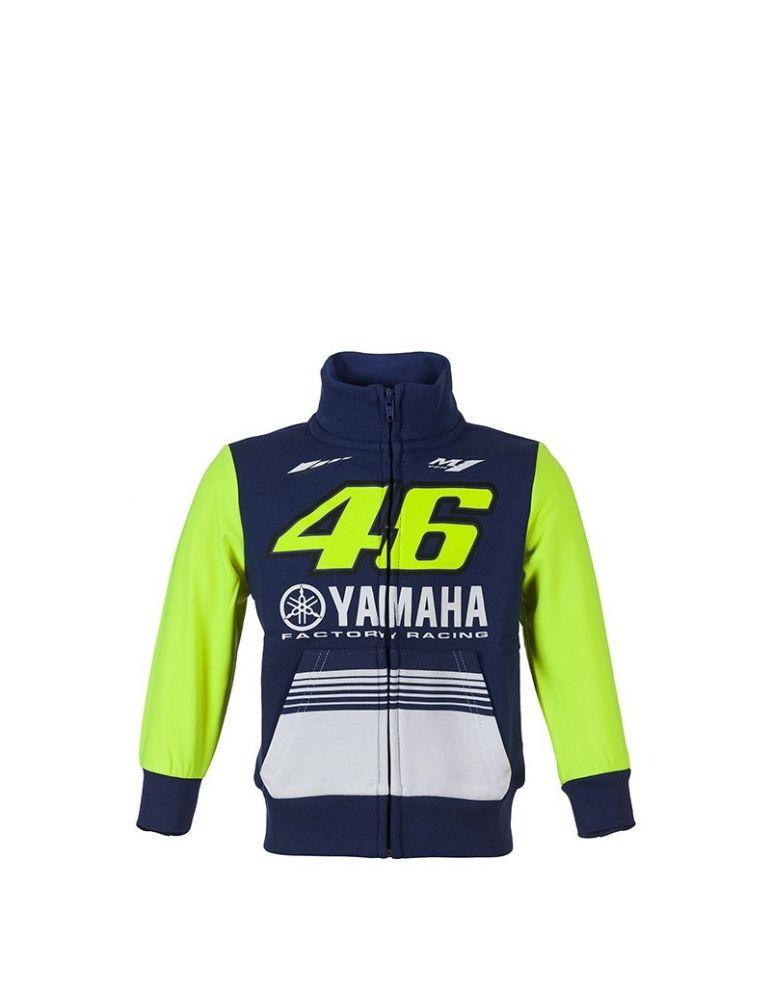 11//12 Ans VALENTINO ROSSI Sweat /à Capuche Zip Enfant VR46 Yamaha Factory M1 Racing Officiel MotoGP Bleu