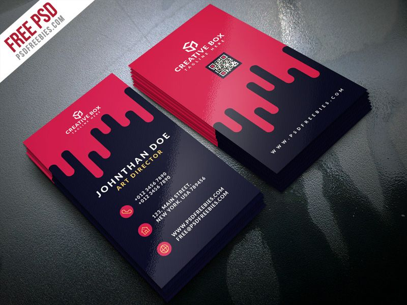 Nice Creative Digital Agency Business Card Template PSD Download - Business card template psd download