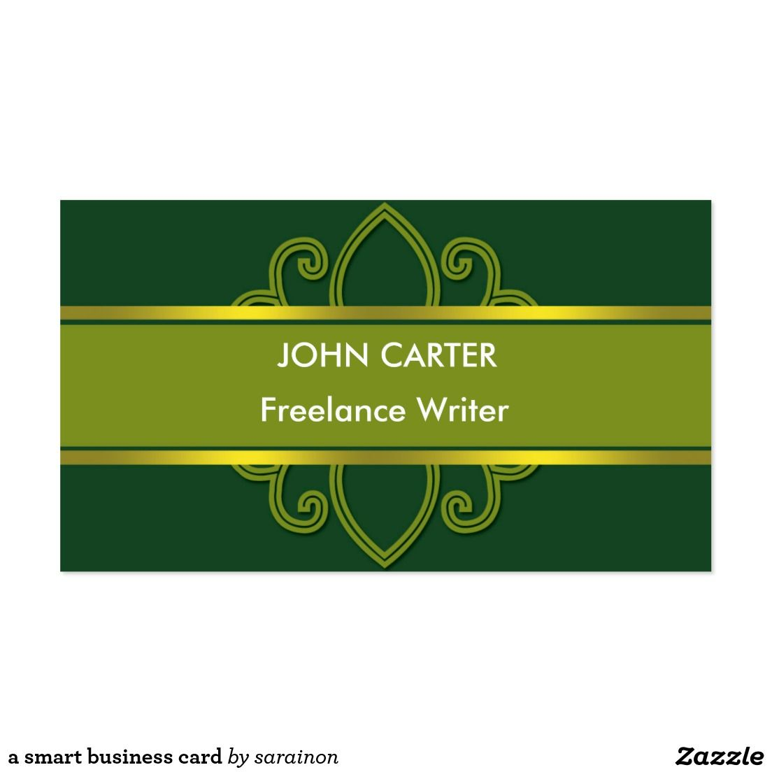 a smart business card | Business Cards: Freelance Writer | Pinterest