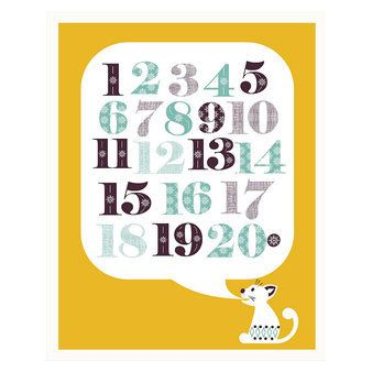 Poster Cat 1-2-3 - Mibo - Posters