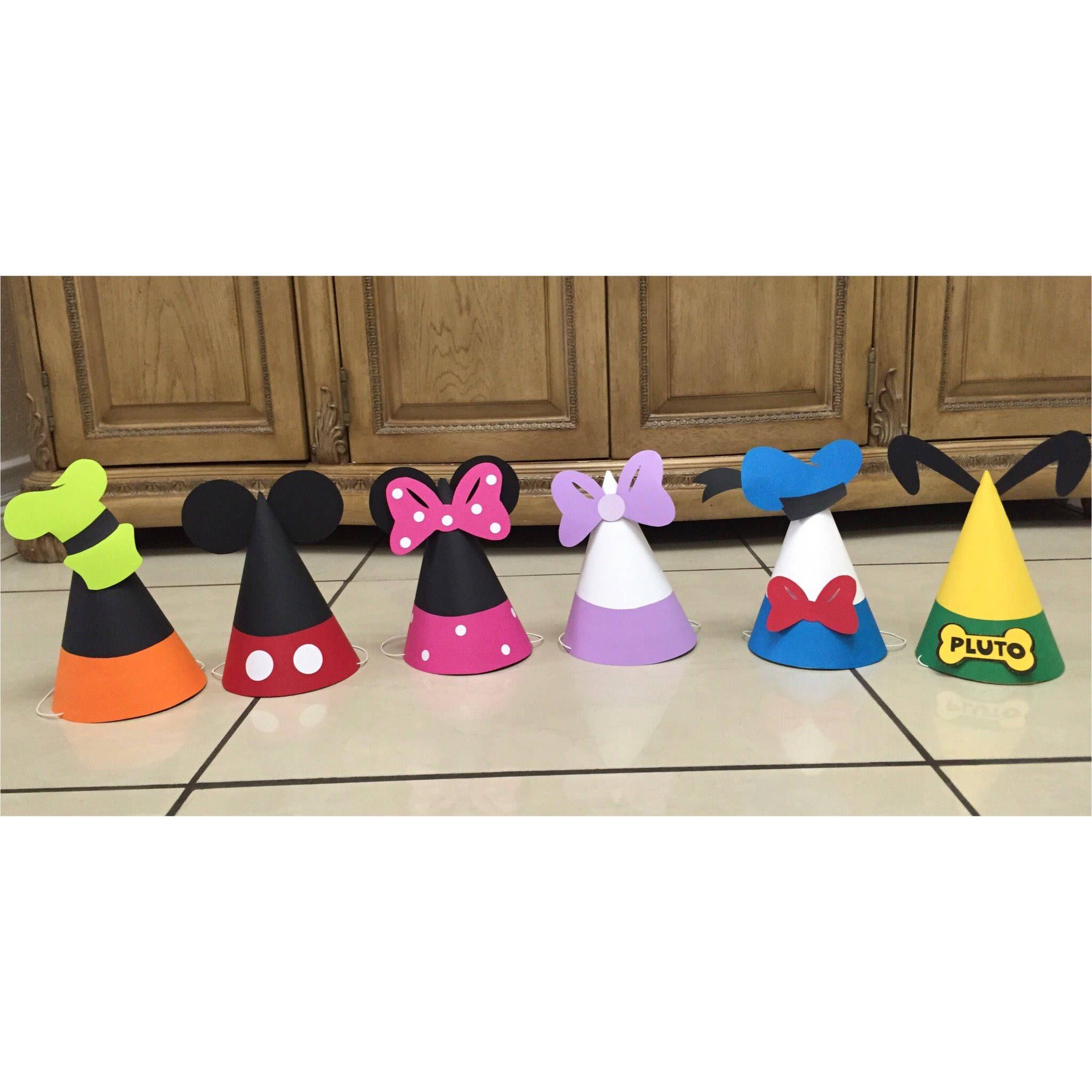 Gorros fiesta Mickey Mouse Clubhouse 12 Sombreros de  59ab44829a0