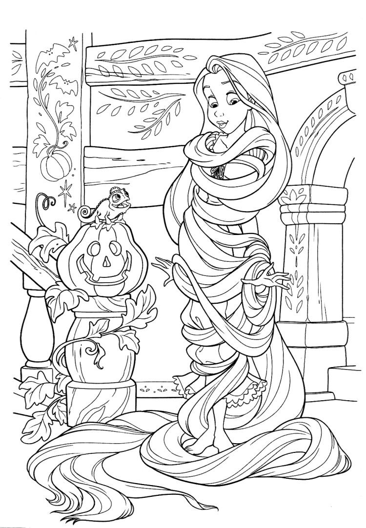 Using Rapunzel Hair To Be Mummy Coloring Pages | Coloring pages ...