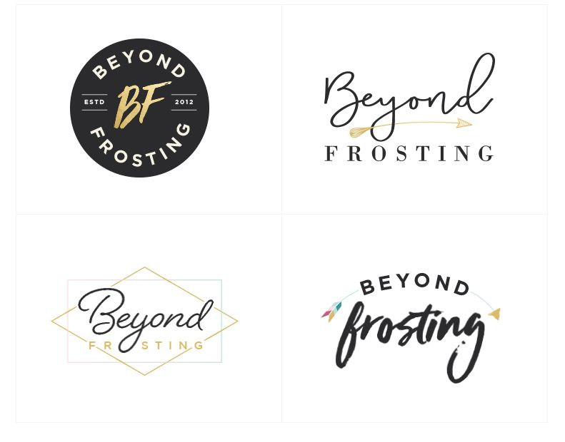 Beyond Frosting Branding and Blog Design Handwritten logo - modern logo fonts