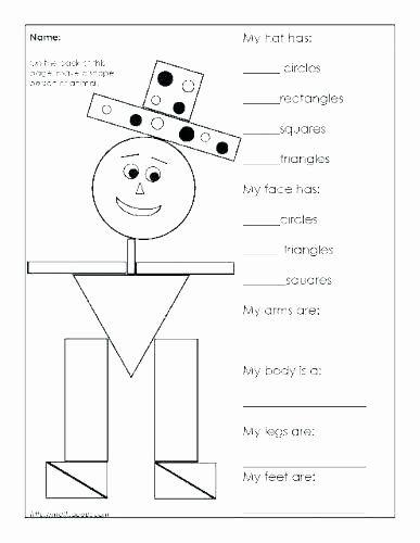 Shapes Worksheet for Kindergarten Coloring Shapes