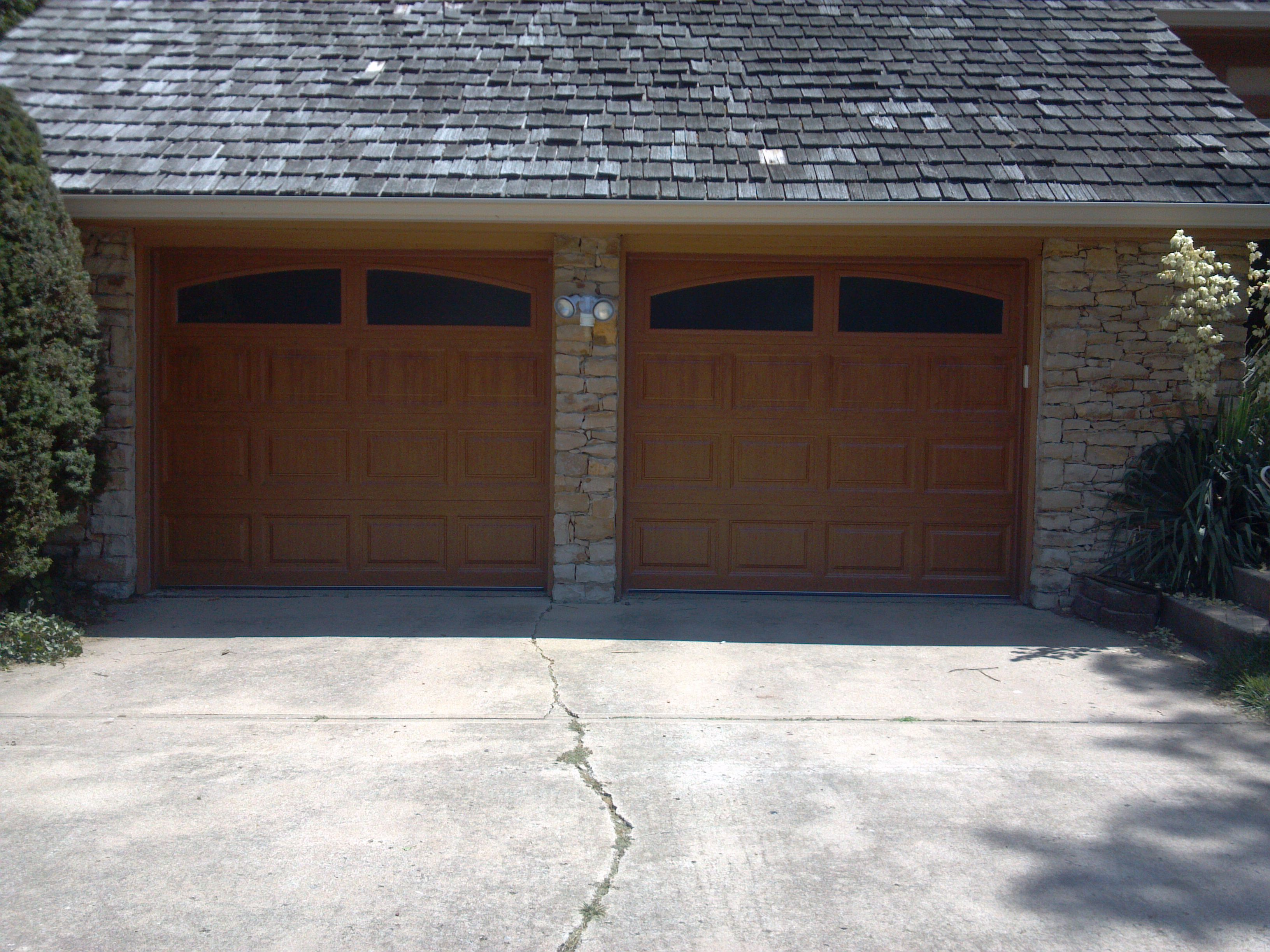 Garage Door Clopay Long Panel With Arched Vertical Glass Carriage