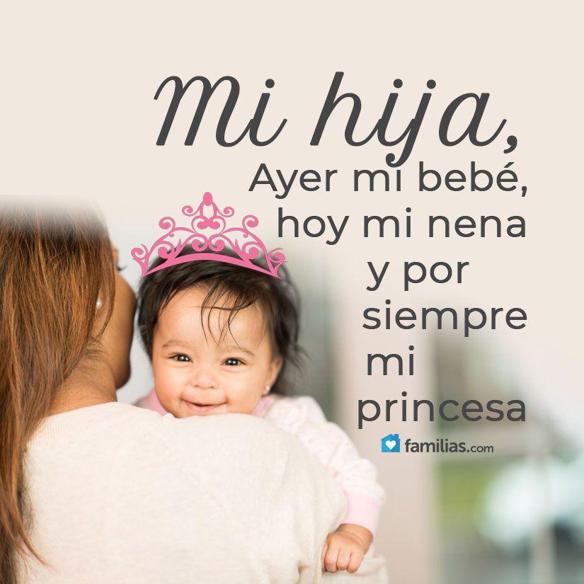 Te Amo Nena Frases Hijos Amor Frases Para Bebes Y