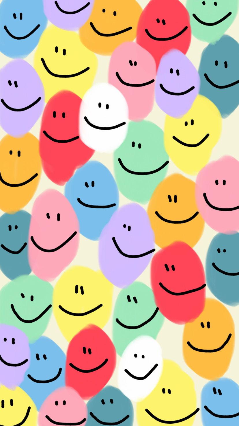 Smiley Face Wallpaper Cute Patterns Wallpaper Art Collage Wall Iphone Background Wallpaper