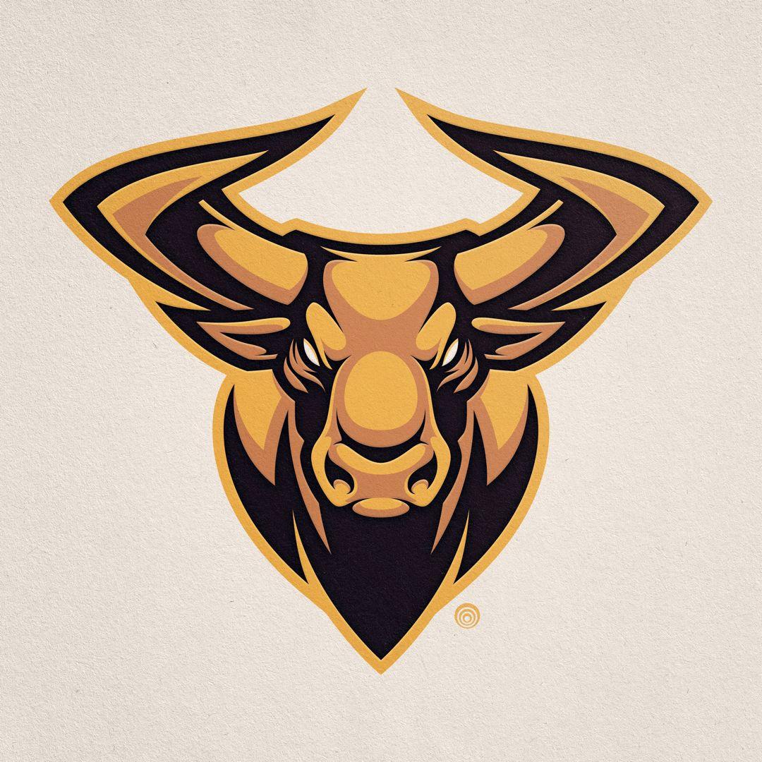 "Absorb81 // Craig Patterson on Instagram: ""Bull Mascot Design  www.Absorb81.com  #Bull #Longhorn #Vector #Mascot #Mascotdesign #Logo #Logodesign #Branding #Identity #Color #Retro…"""