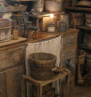 old primitive kitchen