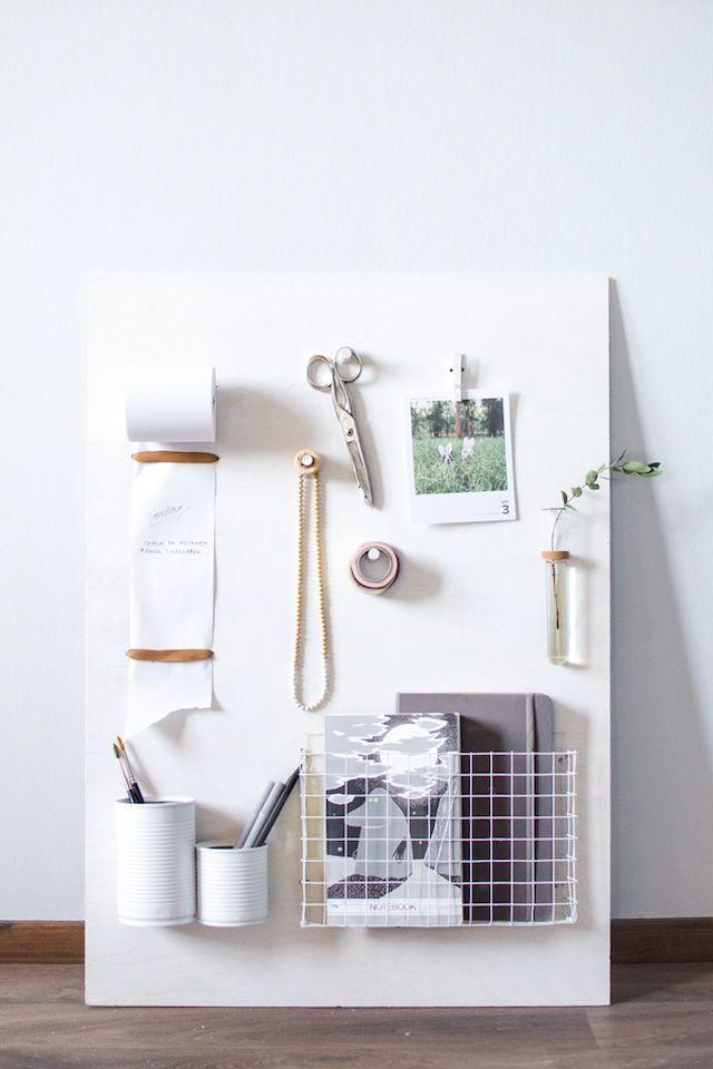 Make This Wall Storage Organizer French By Design With Images Desk Organization Diy Diy Wood Desk Diy Desk