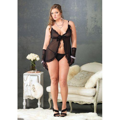 b1fbabe19dc9 Klassieke zwarte babydoll #lingerie #lingeriebestellen #nightwear #fashion  #style #plussize #