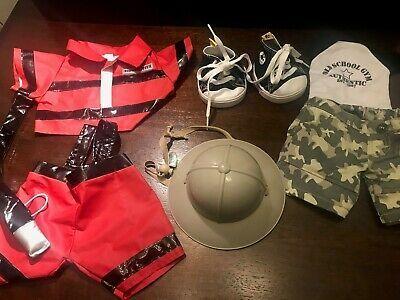 (eBay link) Build a Bear Firefighter uniform Pants Shirt Safari Helmet Tennis Lot 6  #dolls #bears #bears #buildabear (ebay link) #fashion #boydollsincamo