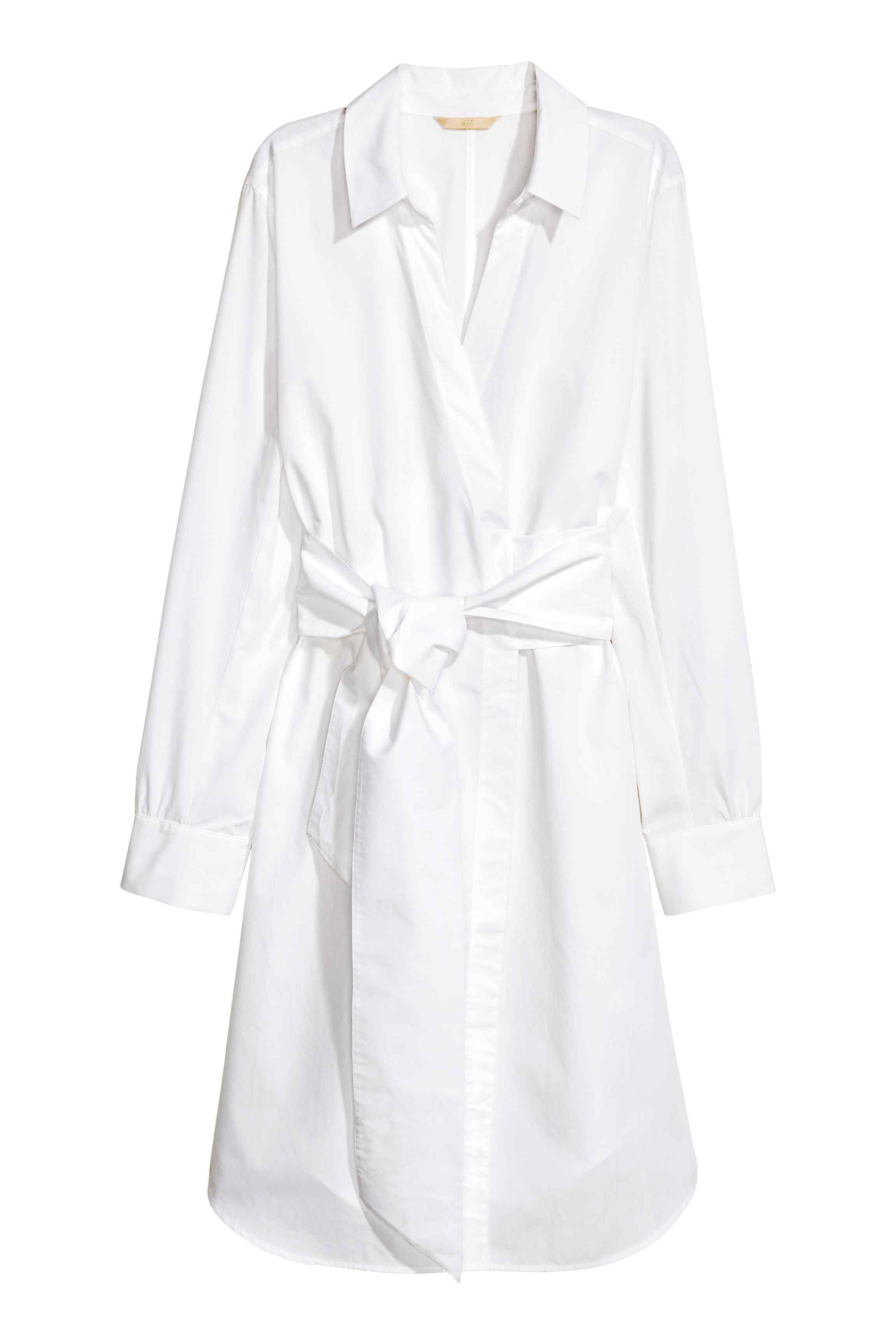 Cotton wrap dress white ladies hum things iull buywear