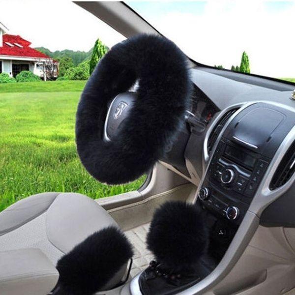Fuzzy Steering Wheel Cover, Car Seat Steering Wheel Covers