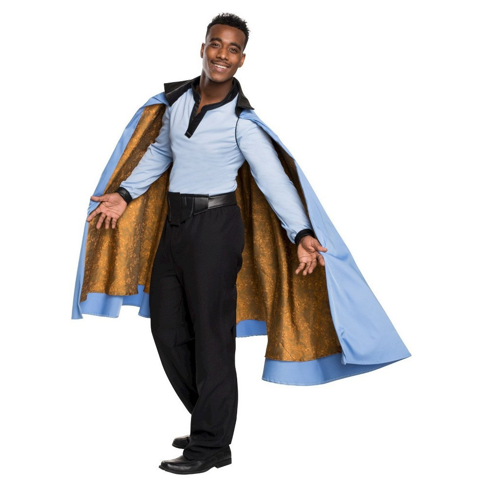 New Star Wars Story Lando Calrissian Cosplay Costume Shirt Uniform Suit Cape#54