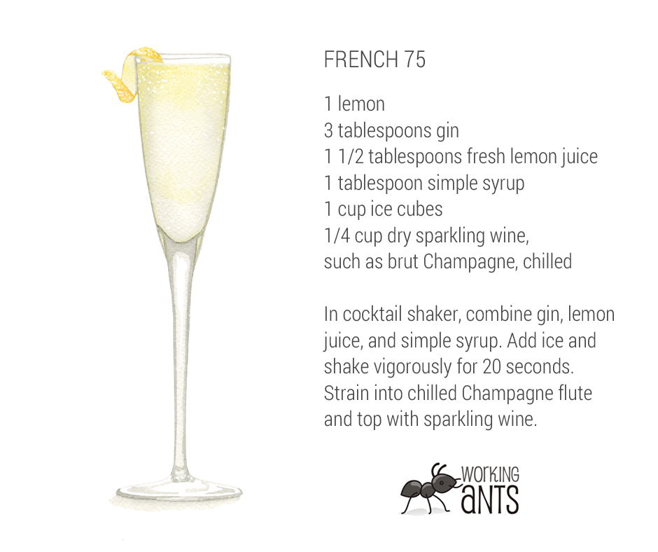 Named after a wartime gun, the French 75 packs quite a punch!