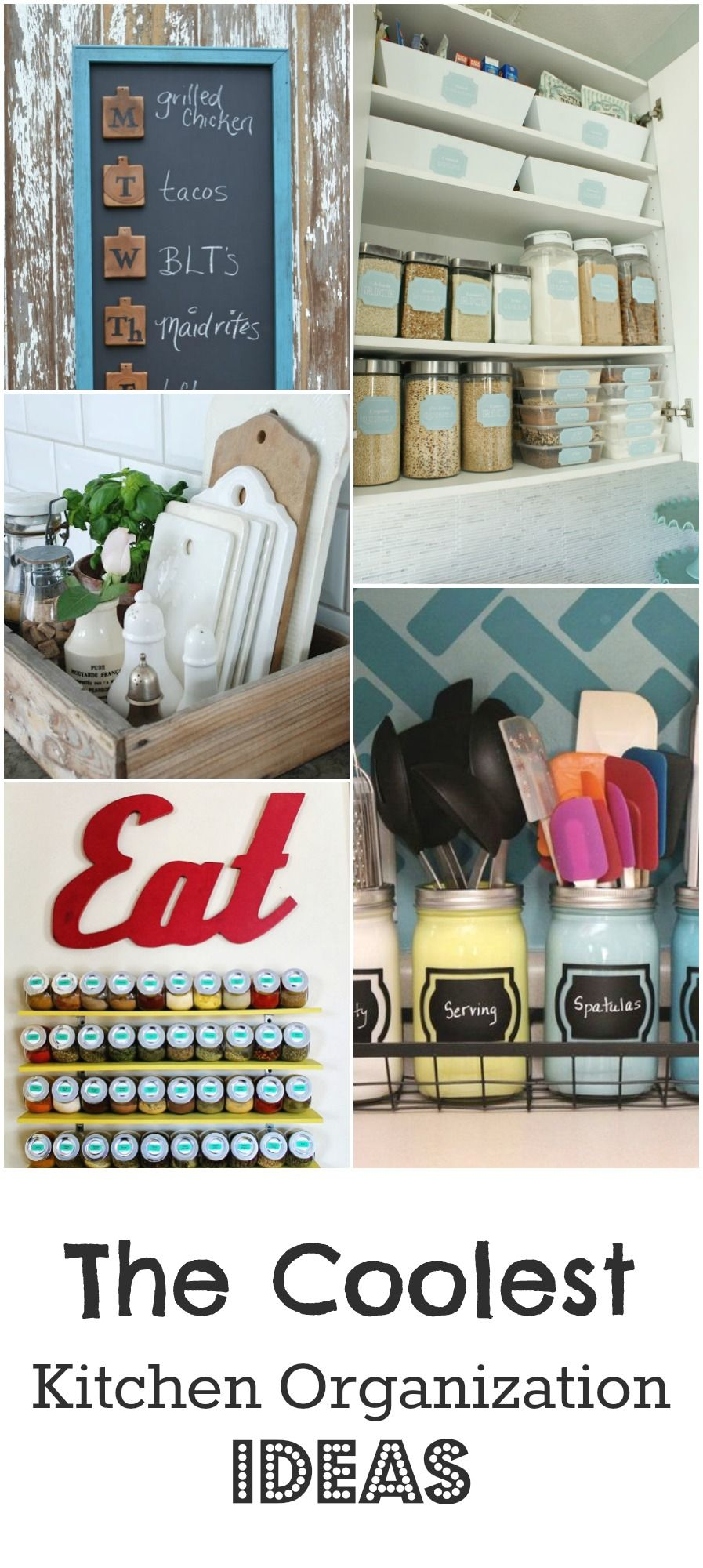 the coolest kitchen organization ideas | organize. | pinterest ... - Armadietti Della Cucina Idee Progettuali