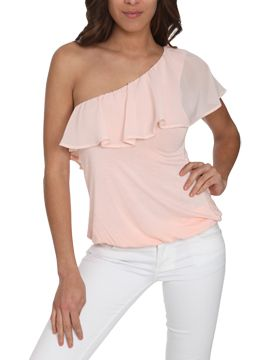 One Shoulder Ruffle Top CLEARANCE