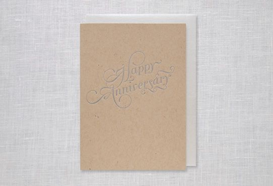 Leather anniversary card etsy