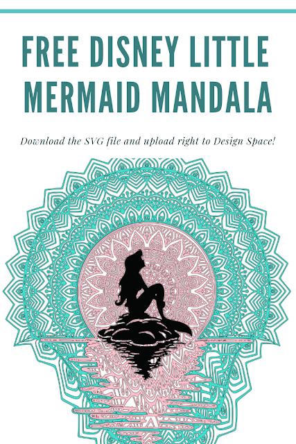FREE Disney Little Mermaid Mandala Disney little