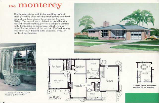 The Vintage War Bride Mid Century Modest Vs The Mcmansion Part 1 Mid Century Modern House Plans Ranch House Plans Beautiful House Plans