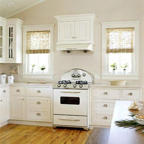 retro-küchen altmodisch holz bodenbelag weiß auswahl Umbau - küche weiß mit holz