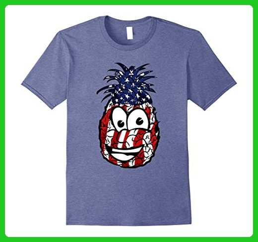 Mens Funny Pineapple Us Flag T Shirt Fourth Of July 4th Party Tee