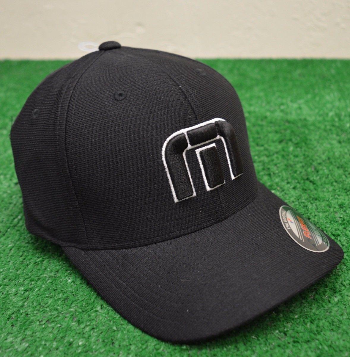 048d3de15da Travis Mathew B-Bahamas Fitted Golf Hat - Black - L XL